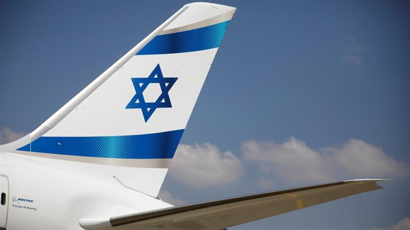 An Israeli flag is seen on the first of Israel's El Al Airlines order of 16 Boeing 787 Dreamliner jets, as it lands at Ben Gurion International Airport near Tel Aviv, Israel, August 23, 2017. REUTERS/Amir Cohen [Reuters]