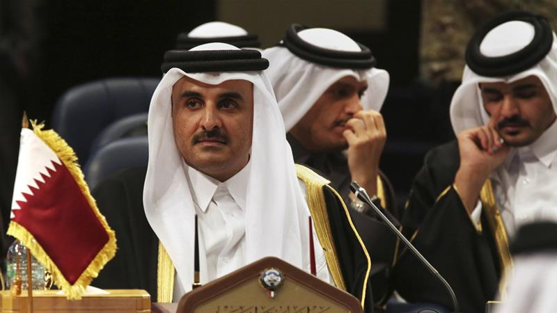 Emir Sheikh Tamim bin Hamad Al-Thani is to meet the presidents of Ecuador, Peru, Argentina and Paraguay [Jon Gambrell/AP]