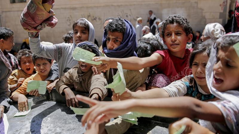 US officials claim their support mitigates the humanitarian crisis in Yemen [Hani Mohammed/AP Photo/File]
