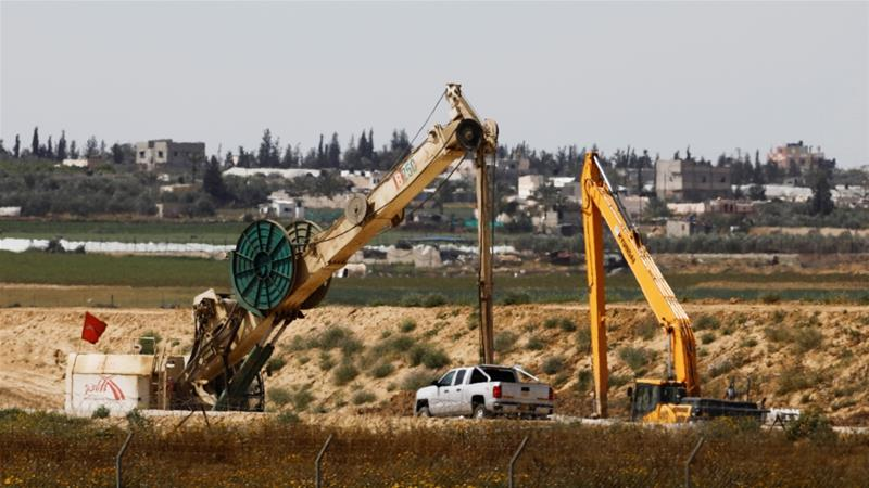 Construction work can be seen on the Israeli side of the border between Israel and the Gaza Strip [File: Reuters]