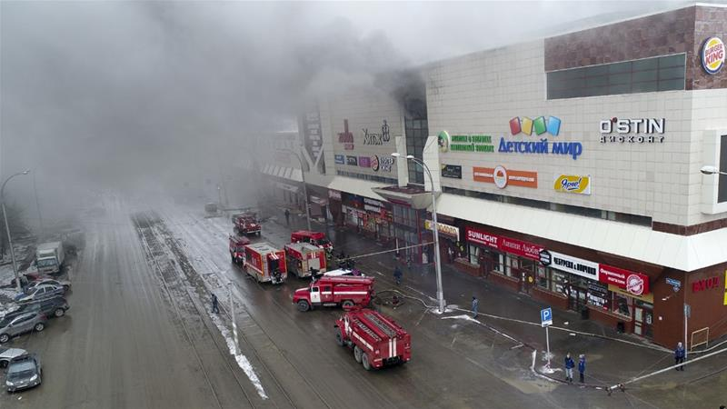 Governor of Russia's Kemerovo region resigns after deadly shopping mall fire