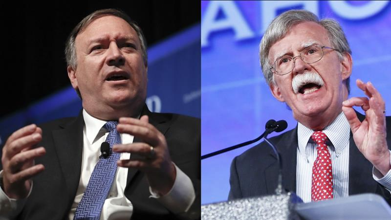Image result for picture pompeo, bolton