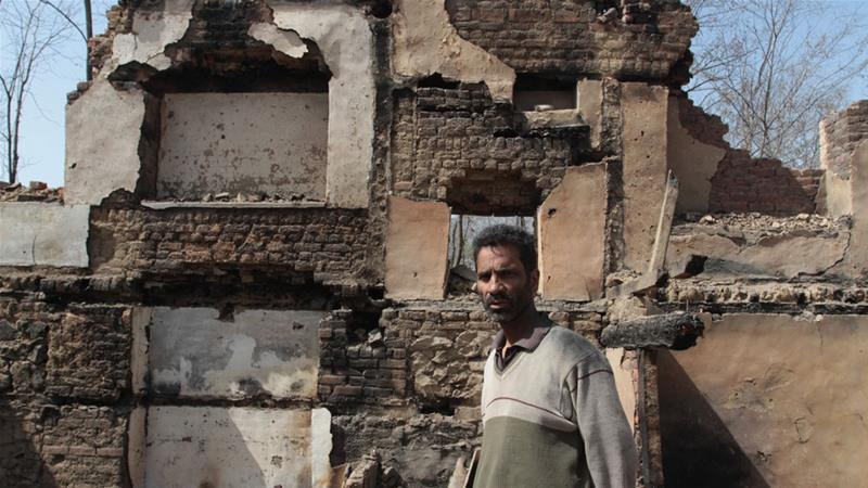 Bhat's house is latest to become the collateral damage in the violence [Shuaib Bashir/Al Jazeera]