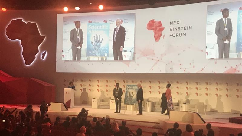 The Next Einstein Forum (NEF) conference is a biannual gathering focused on improving the scientific community in Africa [Yarno Ritzen/Al Jazeera]