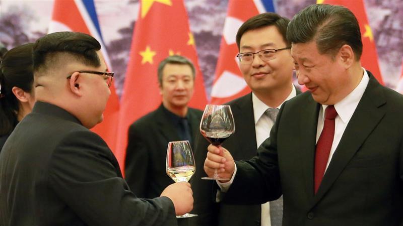 Chinese and Korean leaders meet
