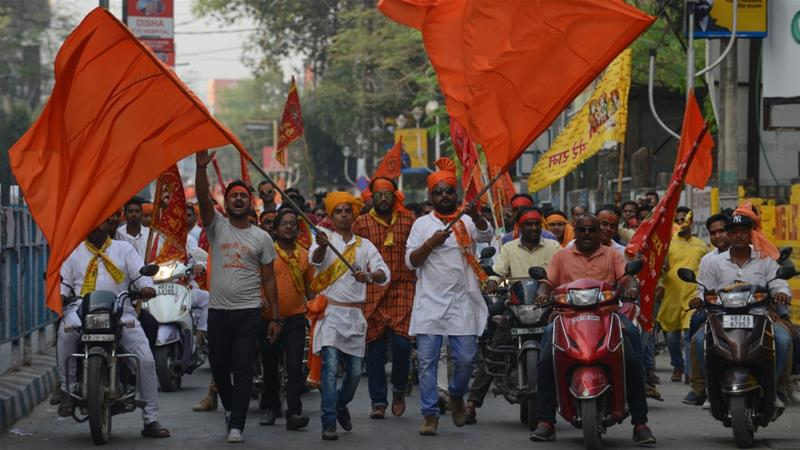 Clashes erupted in West Bengal when Hindu nationalist groups took to the streets to mark Ram's birth [File: AFP]