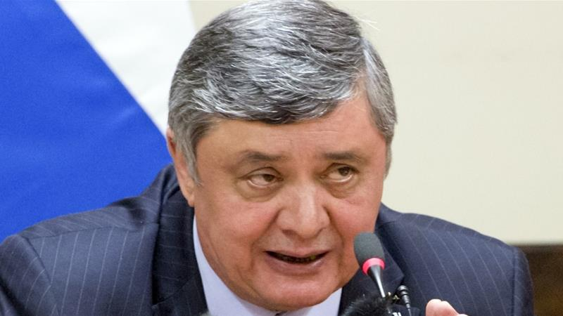 Kabulov said the US claims that Russia was arming the Taliban is an attempt to shift blame for the US failure in Afghanistan [AP]