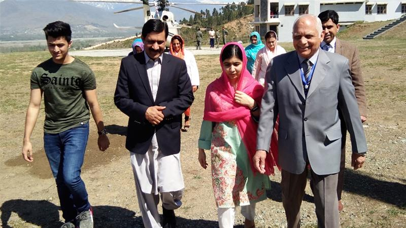 Malala returns to Pakistan home town for first time since attack