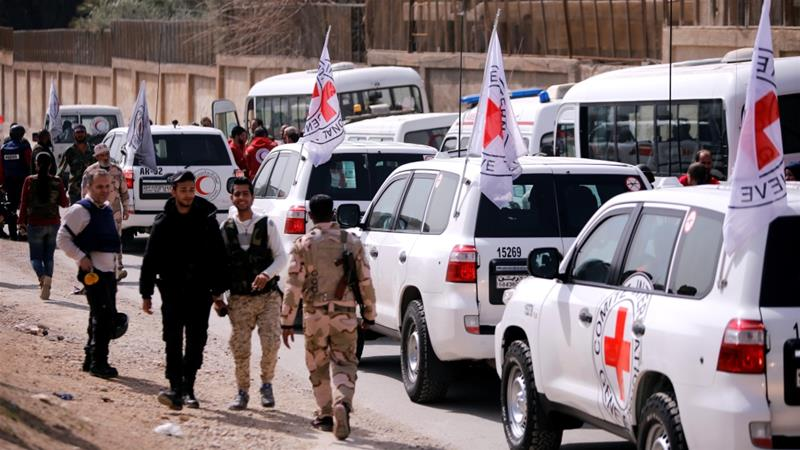 United Nations says Syrian regime not allowing aid convoy to enter Eastern Ghouta