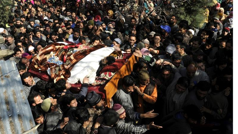Six people - including four civilians and two suspected rebels - were killed by the Indian army in the southern district of Shopian