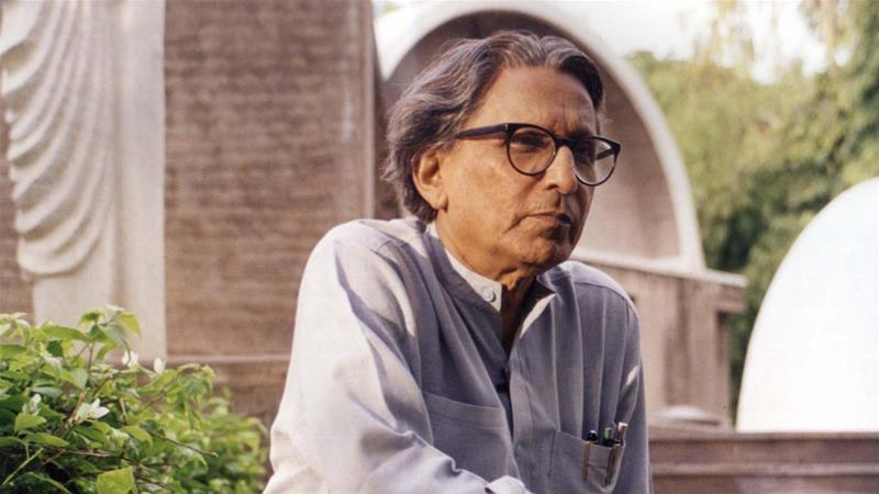 Balkrishna Doshi. Courtesy of The Pritzker Architecture Prize/Vastushilpa Foundation via AP [The Associated Press]