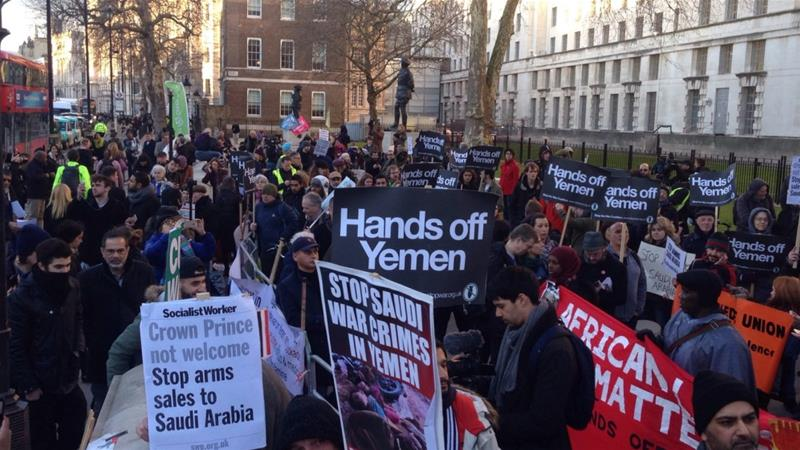 Campaigners have urged the UK to stop selling arms that support Saudi Arabia's war in Yemen [File:Al Jazeera]