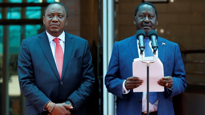 Kenya's president and opposition leader put aside rivalry