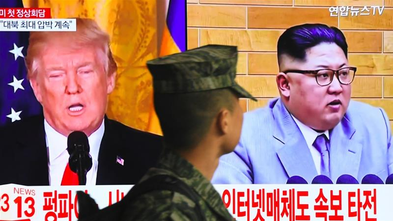 South Korea's national security advisor said the meeting between Trump and Kim could happen as early as May [AFP]