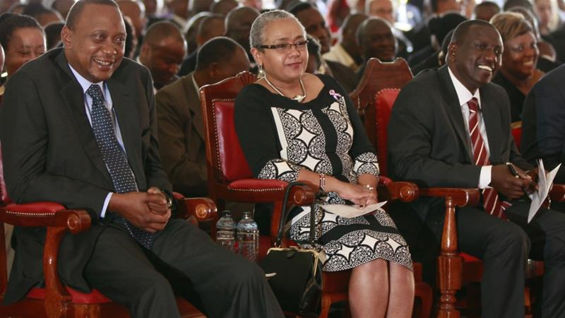 Kenya's First Lady Margaret Kenyatta was in the media spotlight during International Women's Day celebrations in Kenya, writes Wandia Njoya [File photo: Reuters/Thomas Mukoya]