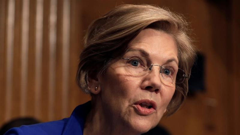 Senator Elizabeth Warren US, November 29, 2017. [Photo/Yuri Gripas/Reuters]
