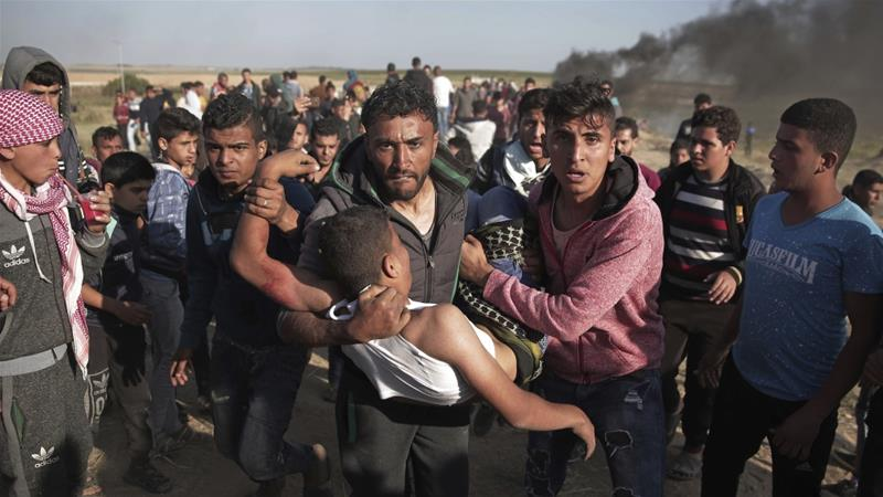 The anger inside and outside Soweto was just and righteous. The anger inside and outside Gaza is just and righteous, too, writes Mitrovica [Khalil Hamra/AP]