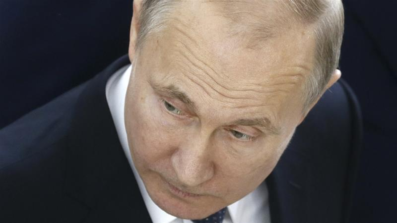 Putin condemns the US air raid without mentioning any plans for a retaliation [Pool/Reuters]