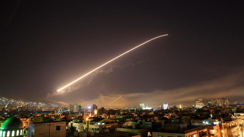 US President Trump announces strikes on Syria