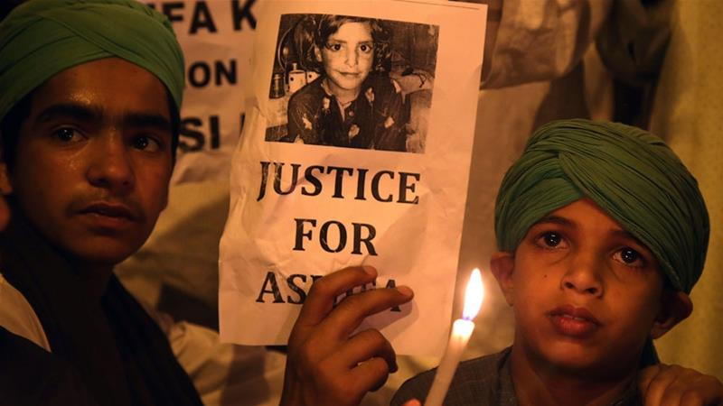 The gang rape and brutal murder of Asifa has caused outrage [Jaipal Singh/EPA]