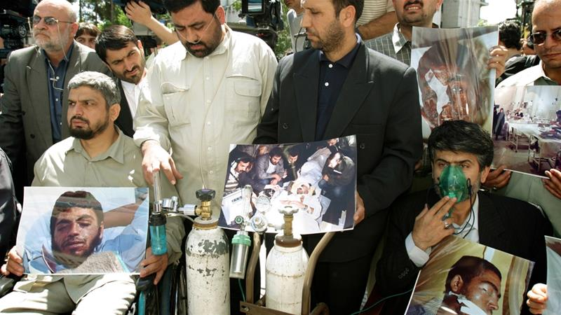 An estimated 7,500 Iranian military and civilians were killed in several Iraq chemical weapons attacks [File: Reuters]