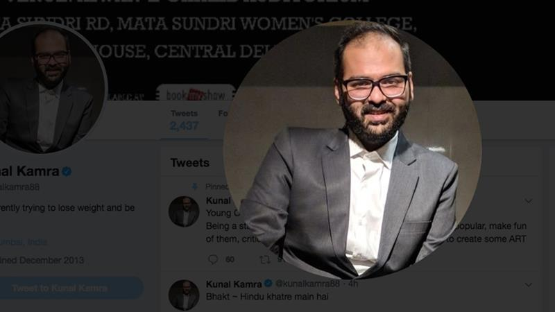 Kamra's abrasive comedy has made waves in the backdrop of the government of PM Modi trying to regulate, and even pre-empt, any criticism [Screengrab of Kunal Kamra's Twitter handle]