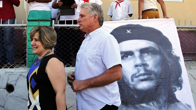 Diaz-Canel is the first person outside Castro family to rule Cuba in 59 years [Alejandro Ernesto/Pool]