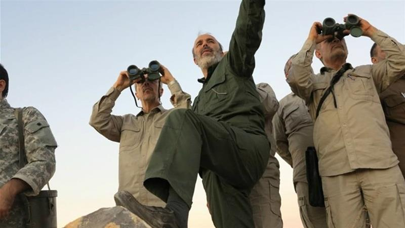 Iranian officers have helped Syrian regime forces claw back territory from the rebels [Syrian Military/AP Photo]