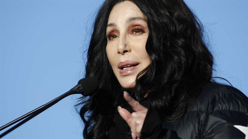 American pop legend Cher, shown here in January, has tweeted her support for a jailed Saudi Arabian royal [Photo/Sam Morris/AFP]