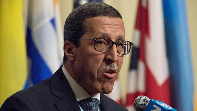Omar Hilale, Morocco's ambassador to the UN, said his country has so far shown restraint in the disputed territory of Western Sahara [Albin Lohr-Jones/Getty Images]