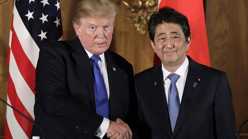 Abe would reportedly also ask Trump to exempt Japan from new tariffs on steel and aluminium imports [File: EPA]