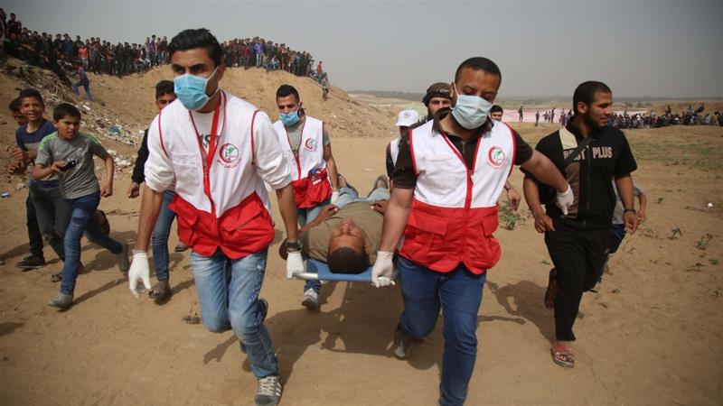 Israeli soldiers kill four Palestinians, wound 700 at Gaza rally