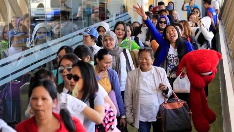 Duterte has previously ordered a ban on the further deployment of Filipino workers to Kuwait [File: Reuters]