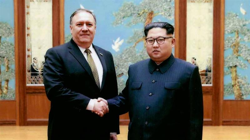 Pompeo previously met North Korean leader Kim in Pyongyang, during a 2018 East weekend trip [File: The Associated Press]