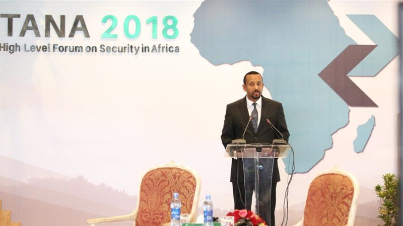 Dr Ahmed offered the keynote address at the Tana High Level Forum on Peace and Security in Africa, an annual event held in the resort city of Bahir Dar, Ethiopia [Tana Forum/Twitter]