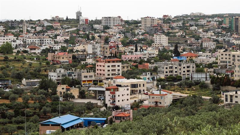 A view of Salfit district in the West Bank where Palestinians continue to see their land confiscated by Israeli settlers