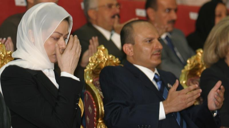 Raghad Saddam Hussein (L), daughter of the former Iraqi President Saddam Hussein, prays besides Yahya Muhammad Abdullah Saleh, the nephew of the former Yemeni President Ali Abdullah Saleh during a memorial services to mark the 40th day of her father''s death in Sanaa, February 7, 2007. REUTERS/Khaled Abdullah (YEMEN) [Reuters]