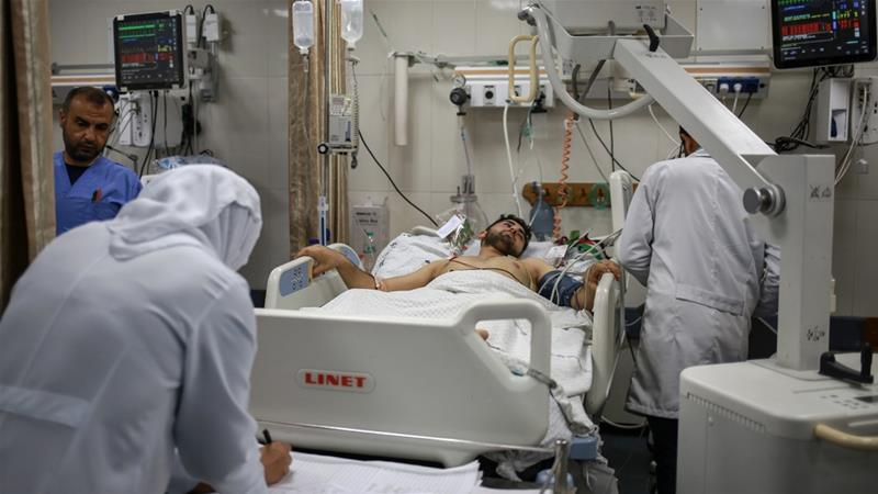 Hospitals in Gaza suffer from a serious shortage of medical supplies owing to an Israeli blockade in place for more than 10 years [Hosam Salem/Al Jazeera]
