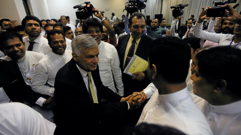 Sri Lanka PM Ranil Wickremesinghe survives no-confidence motion