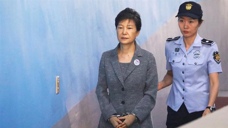 The disgraced former president was found guilty of several corruption charges, abuse of power and coercion [Kim Hong-Ji/Reuters]