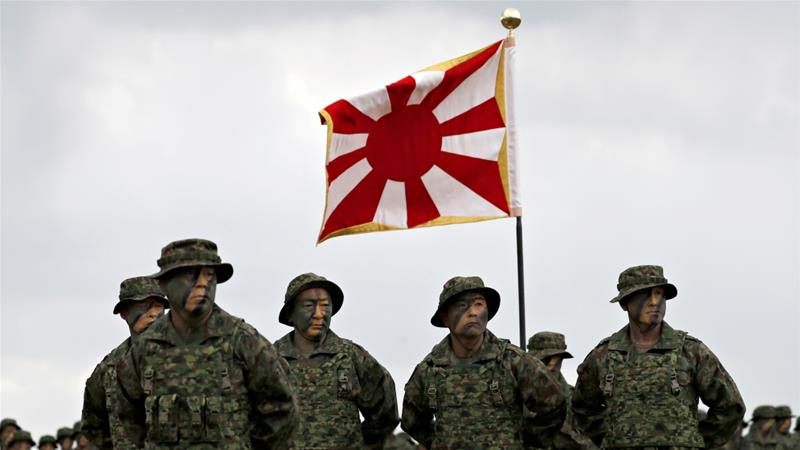 Soldiers of Japanese Ground Self-Defense Force Amphibious Rapid Deployment Brigade, Japan's first marine unit since World War II [Issei Kato/Reuters]