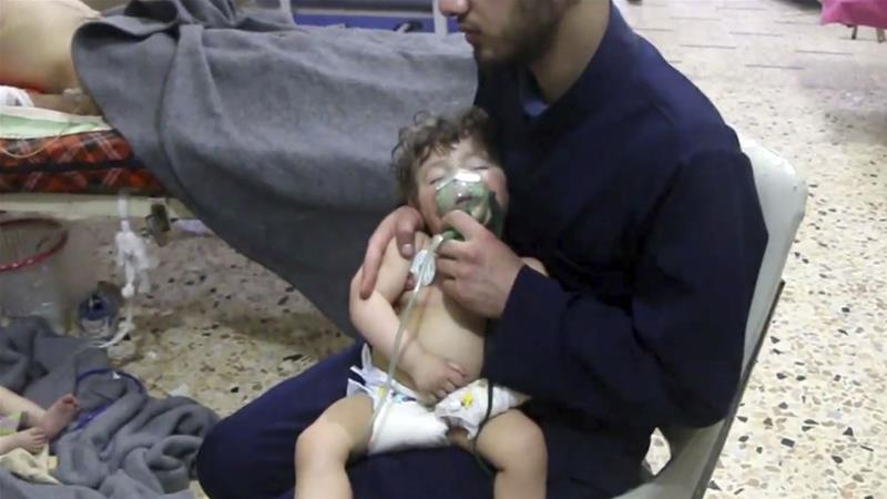 The chemical attack in April 2018 killed dozens [File: AP]
