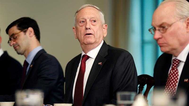 Gen. Mattis says military action not ruled out in syria