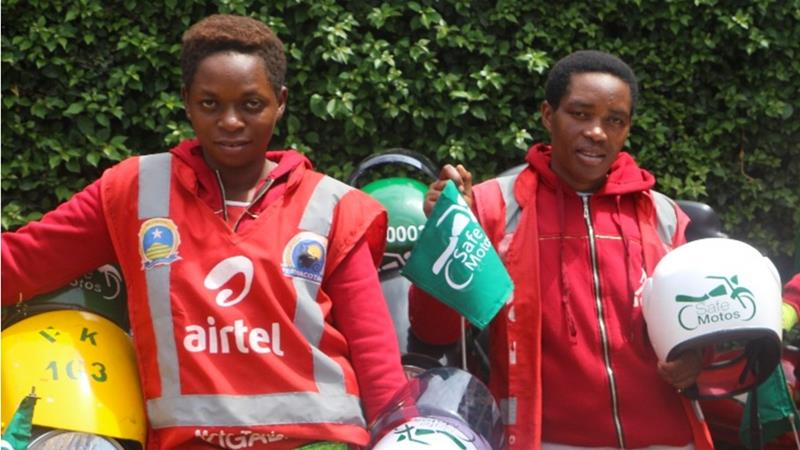 Until recently, the moto-taxi business in Rwanda was completely male-dominated [Courtesy: SafeMotos]