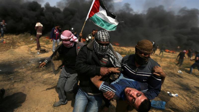 Israel has been criticized for its treatment of Palestinians protesting in Gaza [Ibraheem Abu Mustafa/Reuters]