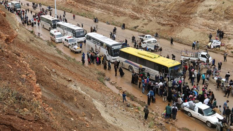 Evacuations came in stages after government forces launched a fierce push to retake southern Damascus from rebel groups [File: Anadolu]