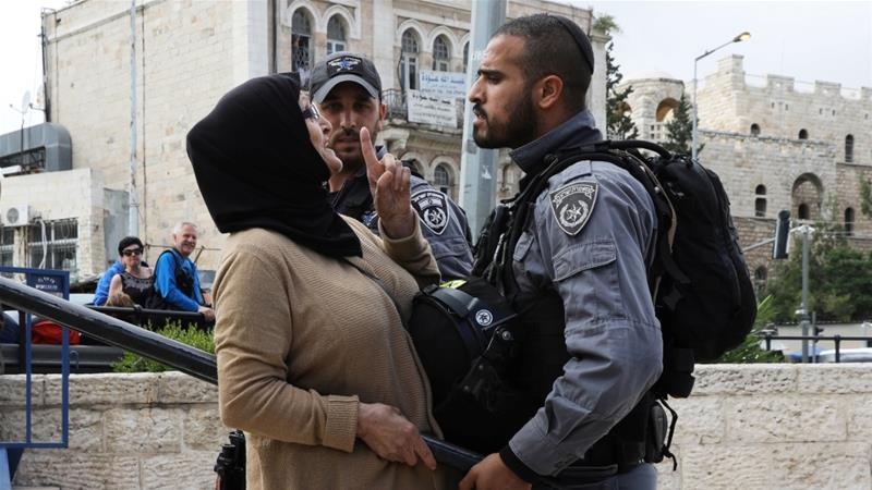 Israeli forces heavily restricted Palestinians' access to Jerusalem's Old City [Ammar Awad/Reuters]
