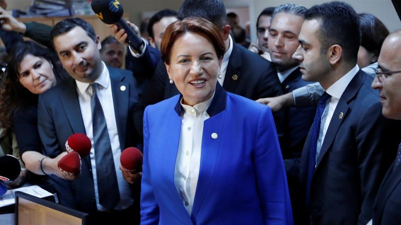 Aksener is widely seen in Turkey as the main challenger to President Erdogan [Reuters]