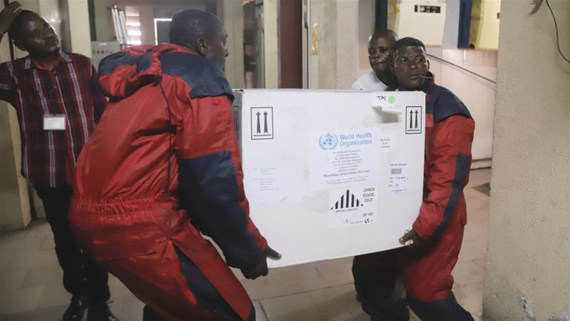 Ebola vaccines arrive in Congo as disease spreads