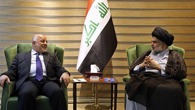 The two leaders met in Iraq's capital, Baghdad, a week after the elections [Iraqi Government via AP]